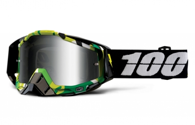 100 masque racecraft bootcamp camo ecran mirror argent