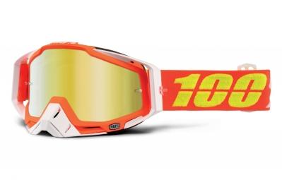 100 masque racecraft razmataz orange ecran mirror or