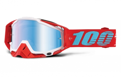 100 masque racecraft kepler rouge ecran mirror bleu