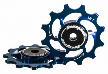 paire de galets hope 12 dents sram 11 vitesses bleu