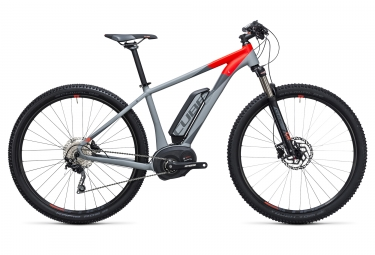 velo electrique 2017 cube reaction hybrid hpa pro 400 29 shimano deore 10v gris rouge