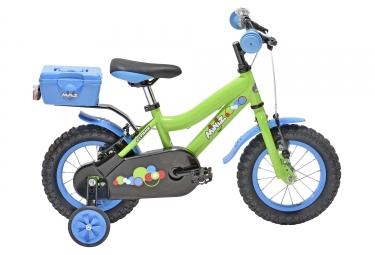 velo enfant gitane miniz 12 vert bleu 2 4 ans
