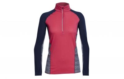 maillot manches longues icebreaker femme comet rose bleu