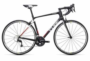 velo route cube 2017 attain gtc carbone shimano 105 11v noir rouge