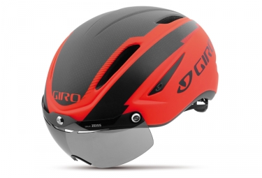casque giro air attack shield rouge orange