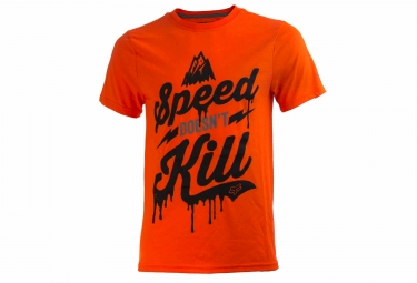 fox t shirt speed wobble ss tech tee orange