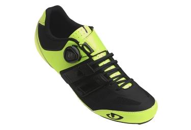 paire de chaussures route giro sentrie techlace jaune noir