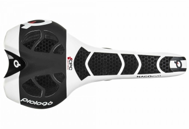 selle prologo nago evo nack carbone cpc 134 dual cover blanc noir