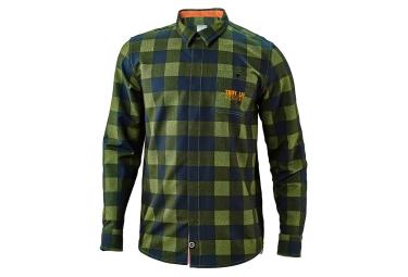 chemise troy lee designs grind flannel vert