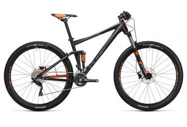 velo complet 2017 cube stereo 120 hpa pro 29 shimano deore 10v noir orange
