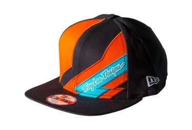 casquette troy lee designs caution noir orange