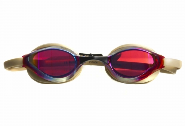 lunettes de bain arena python mirror or rouge