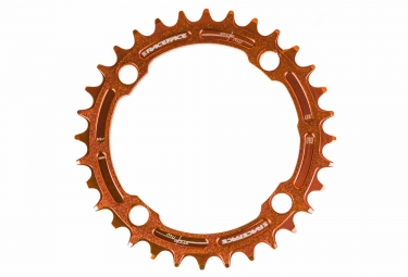 race face mono plateau single narrow wide 104 mm orange