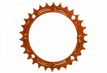 race face mono plateau narrow wide 104 mm orange taraude