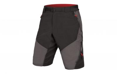 short avec peau endura hummvee ii noir gris