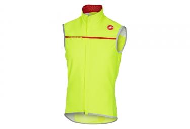 veste sans manches castelli perfetto jaune fluo