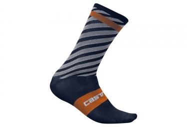 paire de chaussettes castelli free kit bleu orange