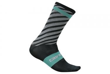 paire de chaussettes castelli free kit gris bleu