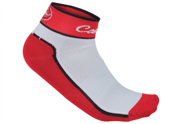 paire de chaussettes castelli impalpabile rouge blanc