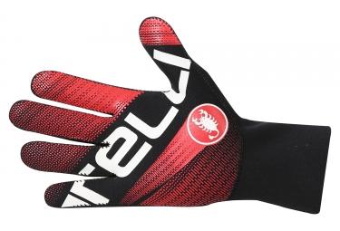 gants longs castelli diluvio noir rouge
