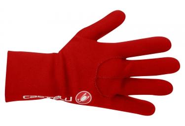 gants longs castelli diluvio rouge