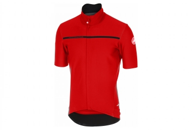 maillot manches courtes castelli gabba 3 rouge
