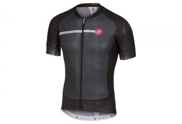 maillot manches courtes castelli aero race 5 1 gris noir