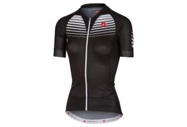 maillot manches courtes femme castelli aero race noir blanc