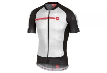 maillot manches courtes castelli aero race 5 1 blanc noir rouge