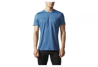 adidas running maillot manches courtes supernova bleu
