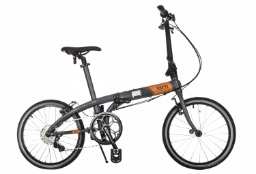 velo pliant tern d8 20 gris orange