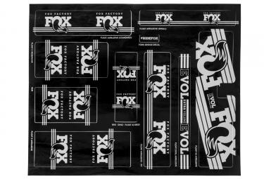 kit stickers fox racing shox heritage 2017 argent