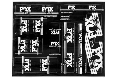 kit stickers fox racing shox heritage 2017 blanc