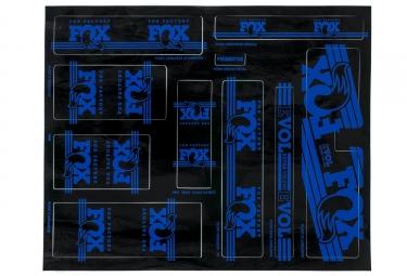 kit stickers fox racing shox heritage 2017 bleu