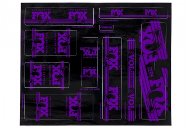 kit stickers fox racing shox heritage 2017 violet