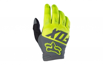 gants longs fox dirtpaw race jaune