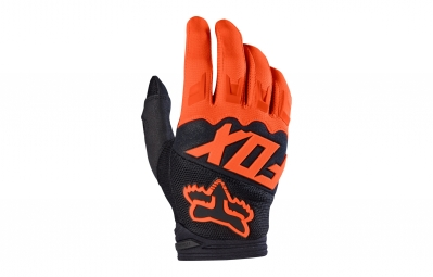 gants longs enfant fox dirtpaw race orange