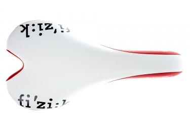 selle fizik aliante gamma rails kium blanc rouge