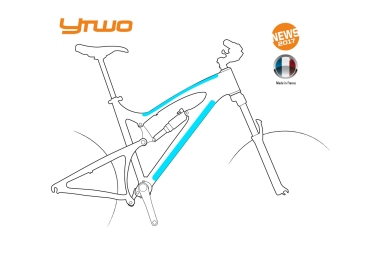 kit de protections ytwo top tube tube diagonale 2 pieces 0 30mm mat