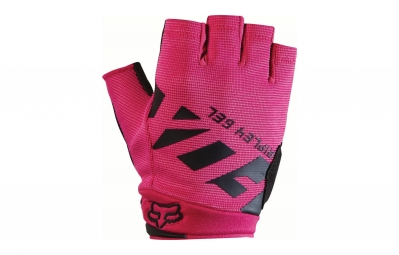 gants courts femme fox ripley gel rose