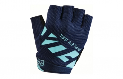 gants courts femme fox ripley gel bleu