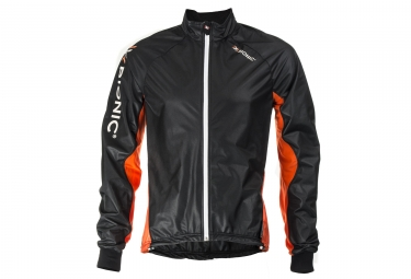 veste coupe vent x bionic spherewind ae 2 1 noir orange