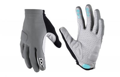 poc paire de gants index flow gris