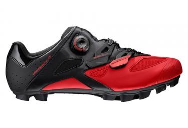 paire de chaussures vtt mavic crossmax elite 2017 noir rouge