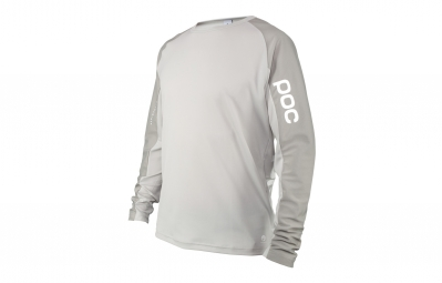 maillot manches longues poc resistance strong gris