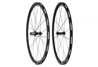 paire de roues vision team 35 aluminium corps shimano sram noir