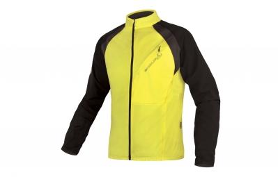 endura maillot manches longues mt500 full zip jaune noir