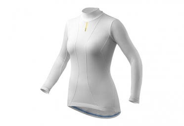 sous maillot femme manches longues mavic cold ride blanc