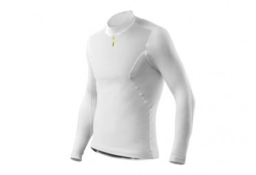 sous maillot manches longues mavic wind ride blanc