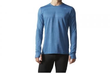 maillot manches longues adidas running supernova bleu